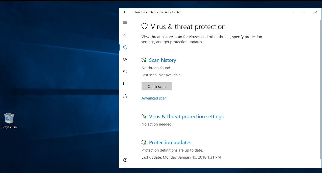 The Windows Defender says if your PC is at risk