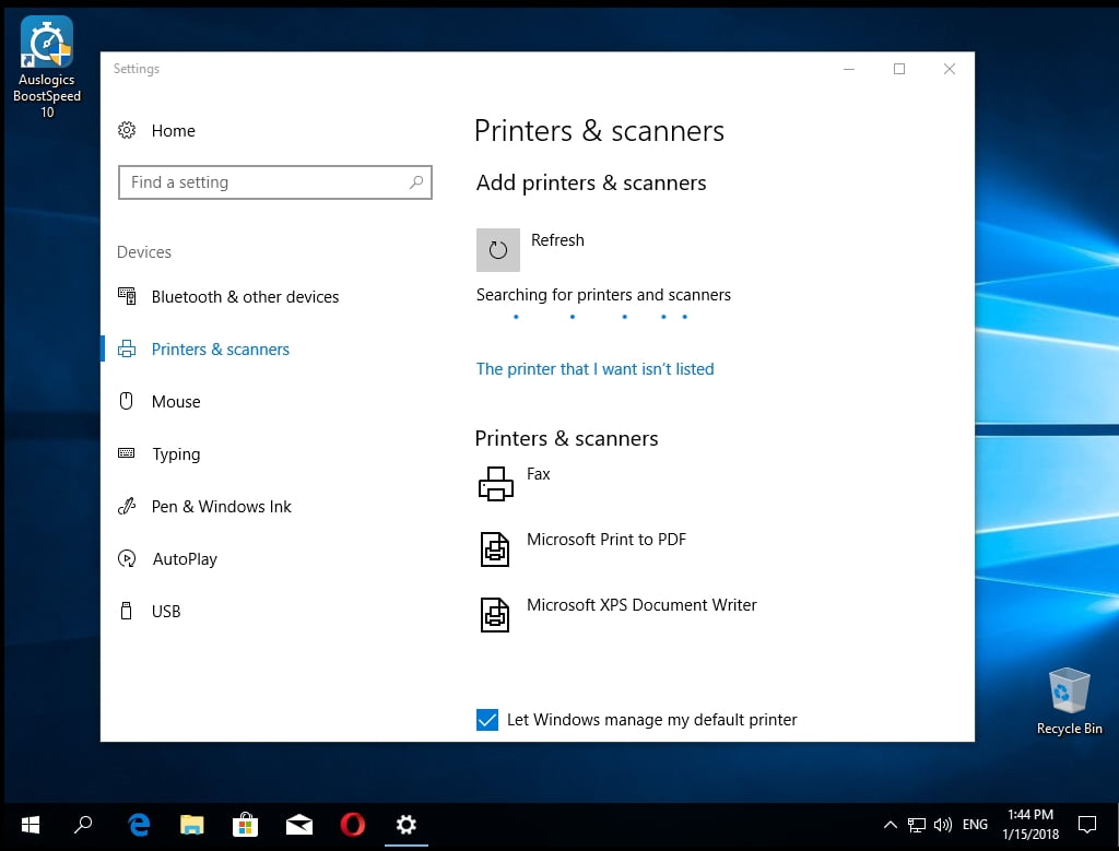 How to solve printer problems in Windows with Auslogics software