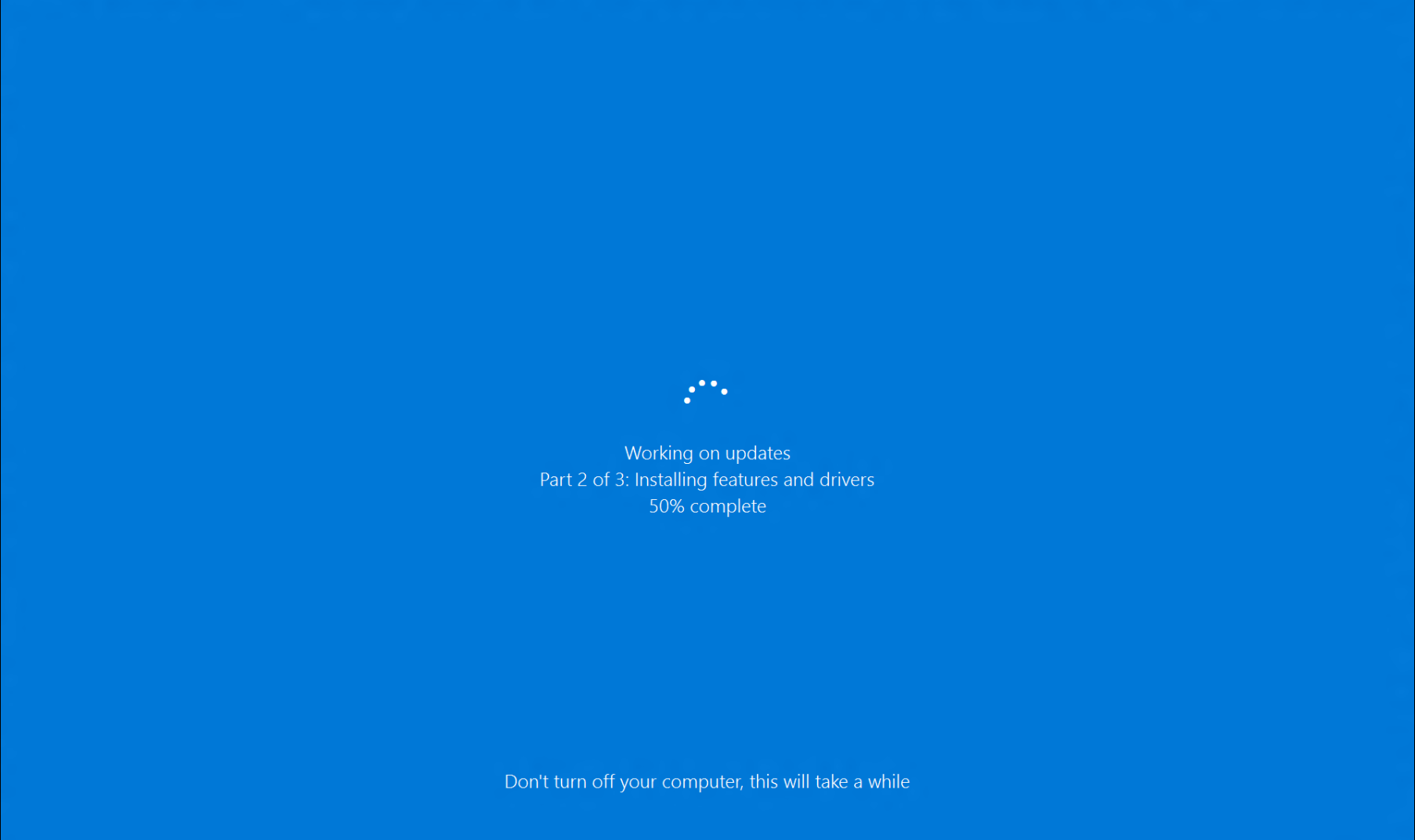 windows 10 update cleanup slow