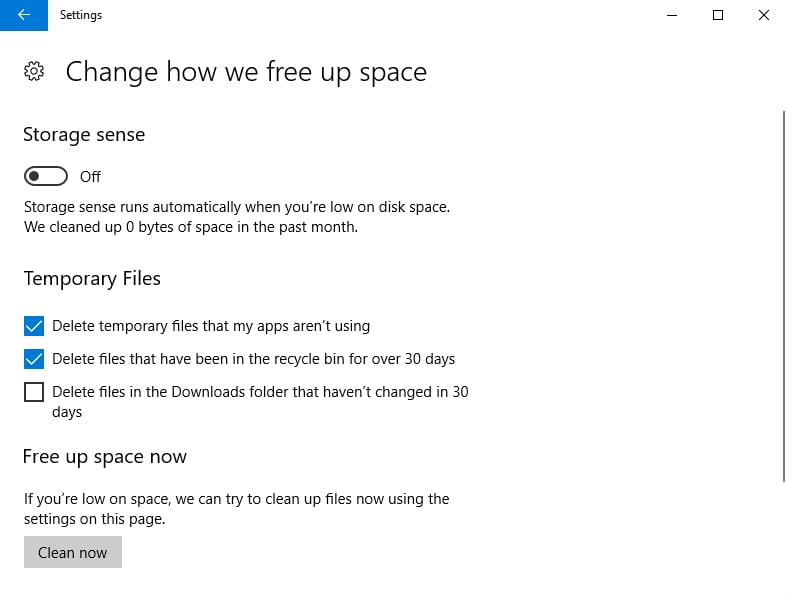 Free up some valuable disk space.