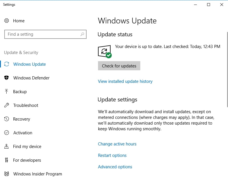 Your Win 10 will search for available updates automatically.