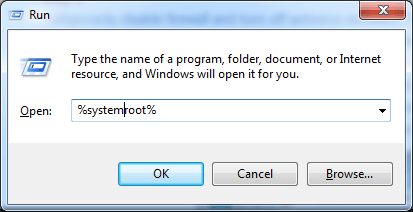How to open systemroot folder in Windows 10?