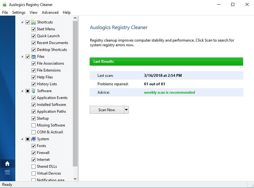 Repair your registry to fix the C00D11B1 error on Windows 7
