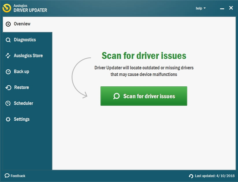 Auslogics Driver Updater will fix all your driver issues in no time.