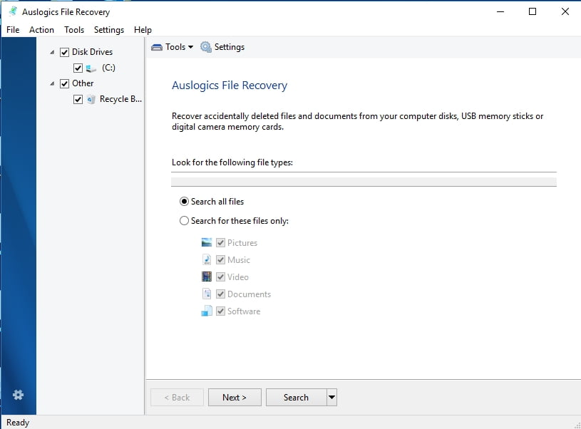 Recover all your files with Auslogics File Recovery.
