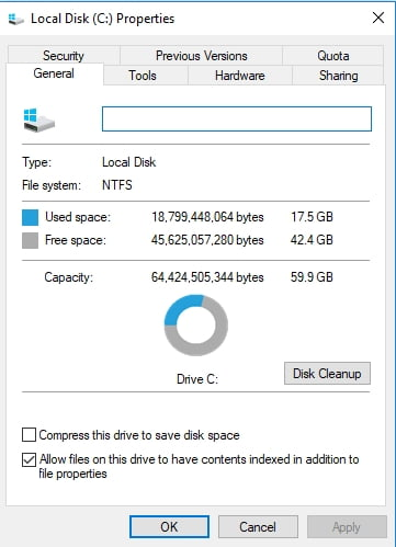 Check your hard drive for errors.
