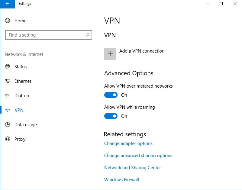 Check your VPN settings to fix  Client and Server-Side VPN Error 800
