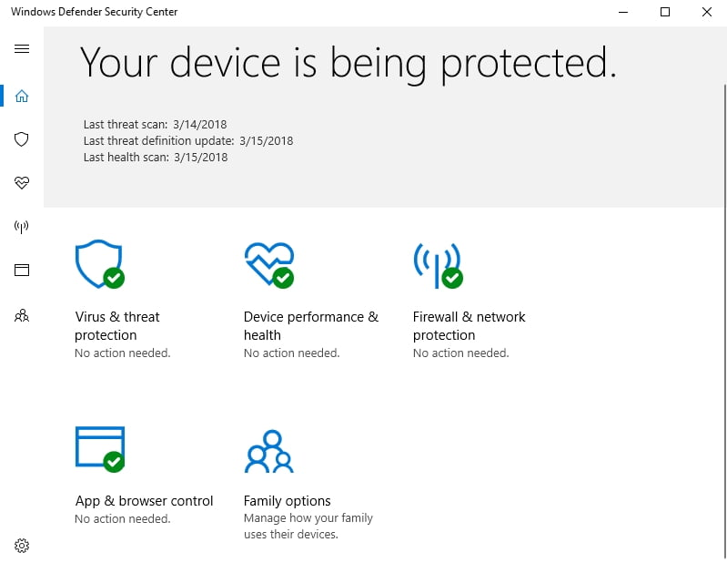 Windows Defender will protect your PC against malware attacks