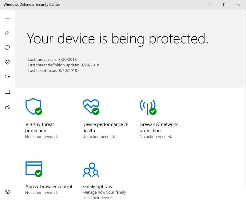 Windows Defender comes as part of your OS and keeps it safe