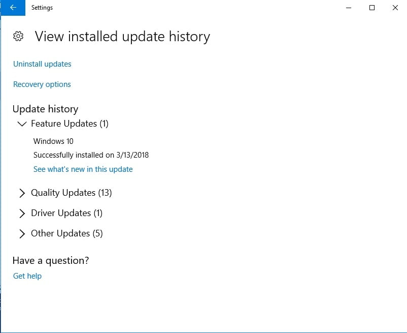 Update your system with Windows Update