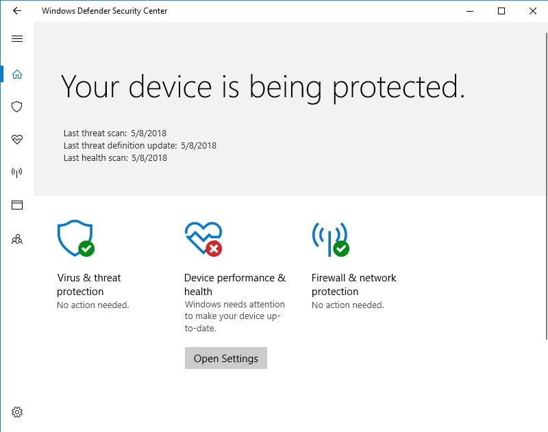 Windows Defender is designed to keep malware out.