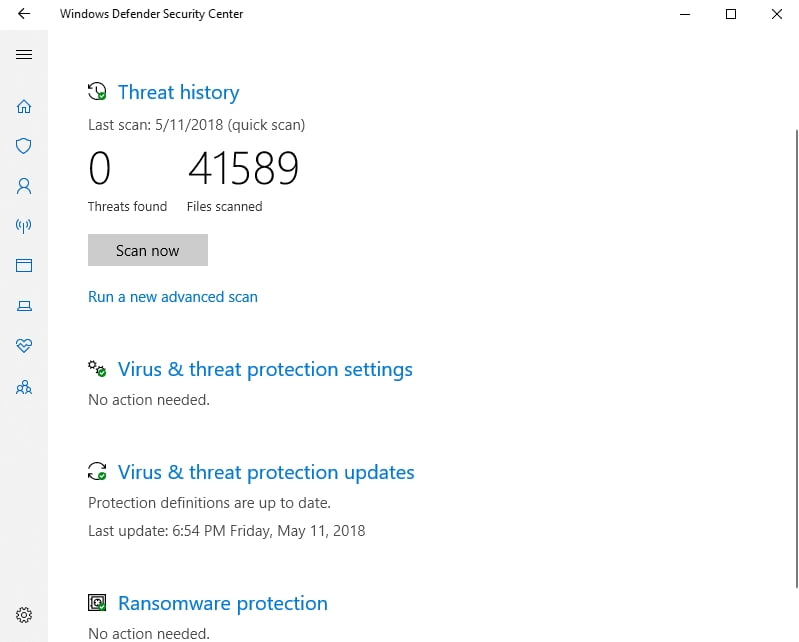 Windows Defender will scan your PC for malware and viruses. This may resolve many of your issues.