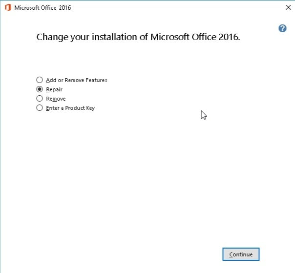 Change your installation of Microsoft Office to fix your Excel issues.