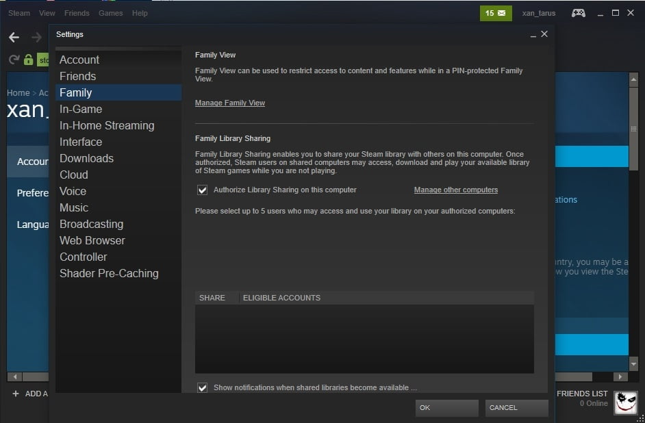 What are the ways to share Steam games using Windows?