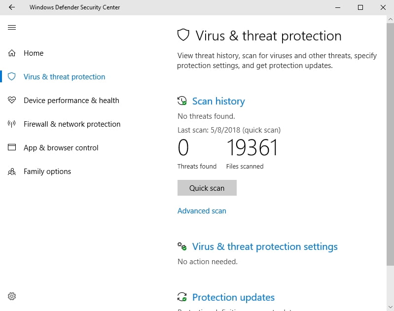 Windows Defender will scan your PC for malware and viruses, which can resolve your bdredline.exe issues