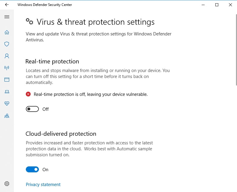 Why does Windows 10 prevent antivirus installation?