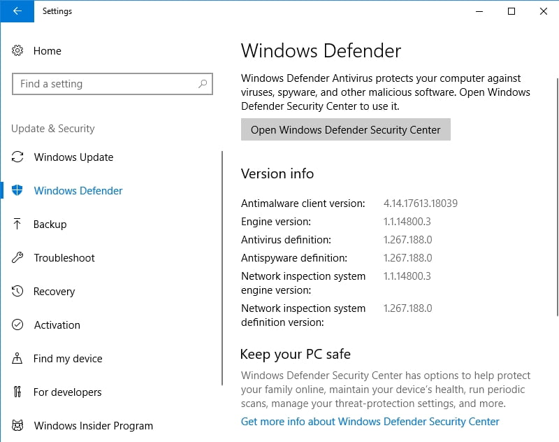 Use Windows Defender to remove the malware responsible for your AMD problems.