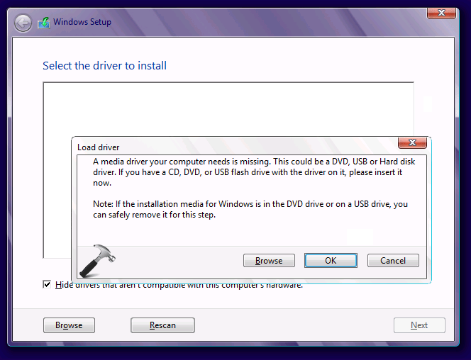 How to fix Missing media driver error in Windows?