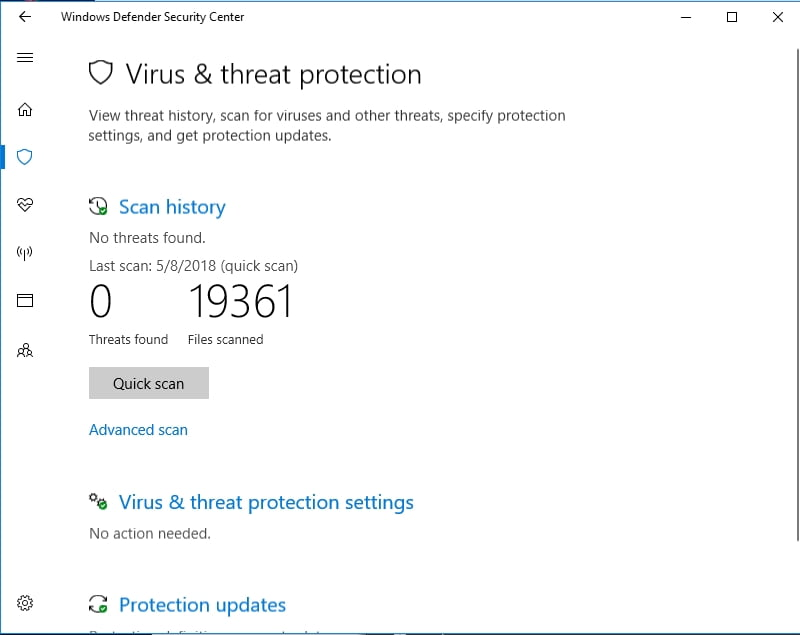 Windows Defender will keep your System32 directory from viruses and malware