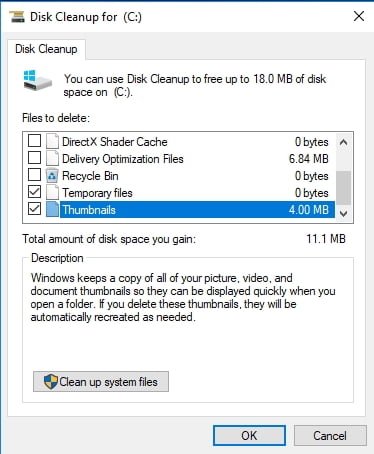 Clean up your system files to fix the 'Protection definition update failed' error in Windows Defender