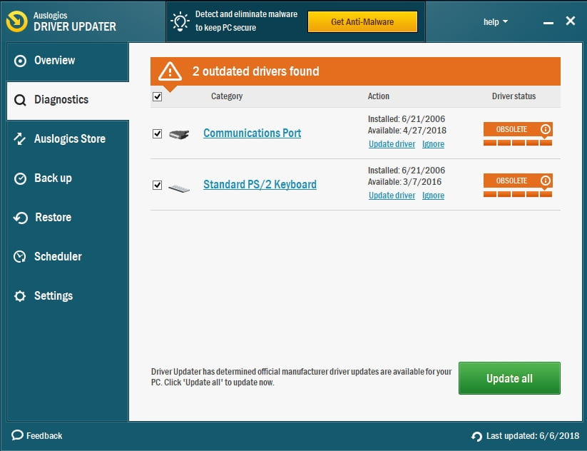 You can update all your drivers with Auslogics Driver Updater in order to fix no sound after Bluetooth connection.