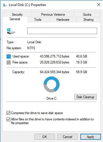 You compress a whole partition in Windows 10 to save your disk space.