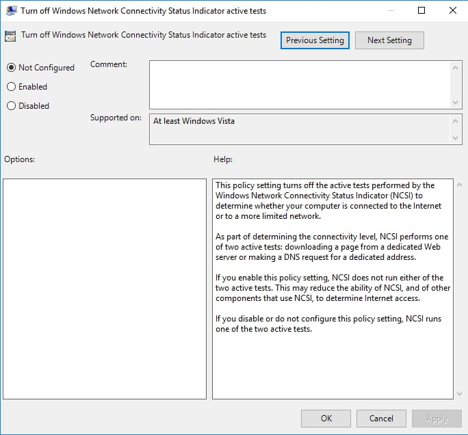 Change your Group Policy settings.