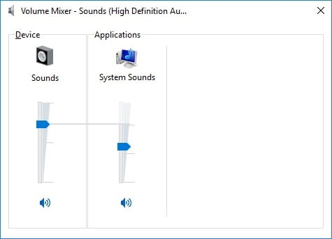Adjust your volume mixer settings.