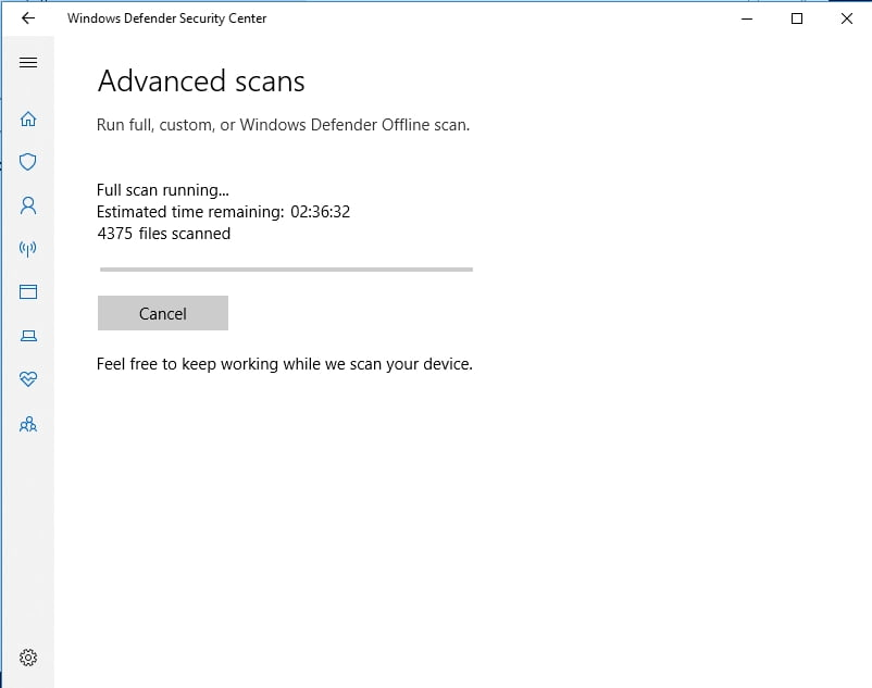 Use Windows Defender to eliminate malware.