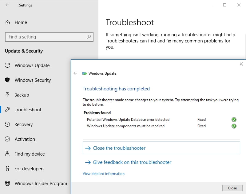Troubleshoot your update problems as soon as possible.
