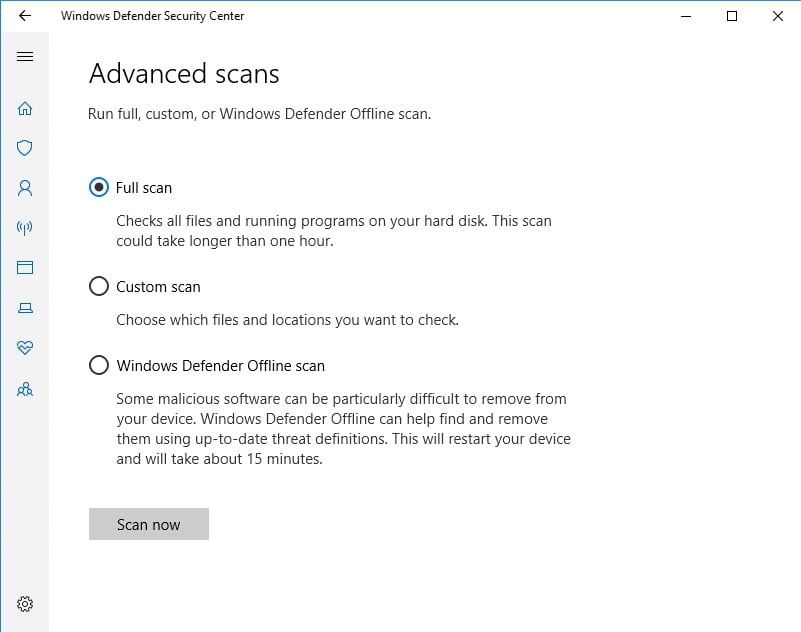 Conduct a full scan of your PC.