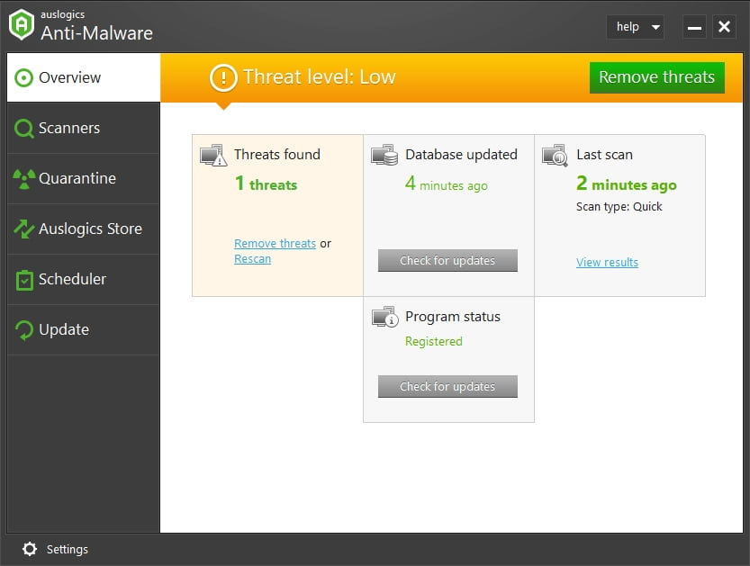 Scan your PC for malware with a reliable tool.