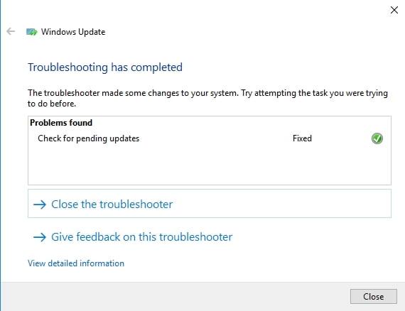 Troubleshoot your Windows Update.