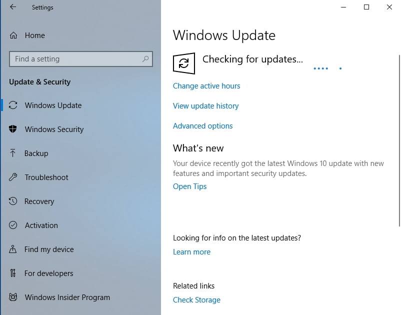 Updating your system can help fix the Shift key not working issue.