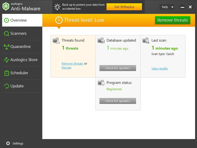 Keep malware out with Auslogics Anti-Malware