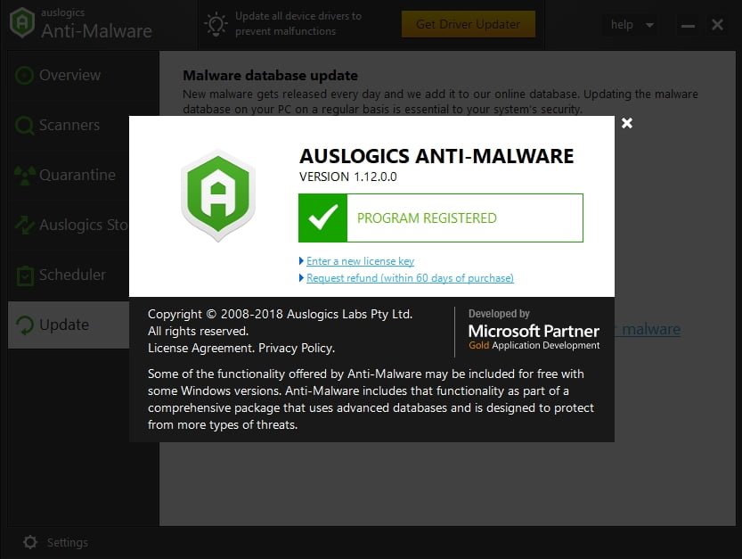 Auslogics Anti-Malware will protect your PC against the most sophisticated threats.