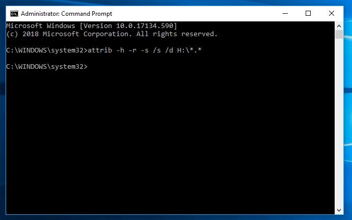 Input attrib -h -r -s /s /d X:\*.*.