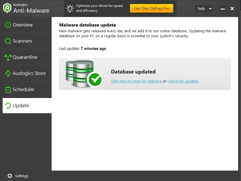 Scan for malware now to protect your system.