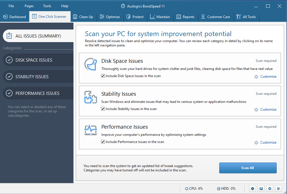 Auslogics BoostSpeed will speed up your PC and remove software leftovers from your system