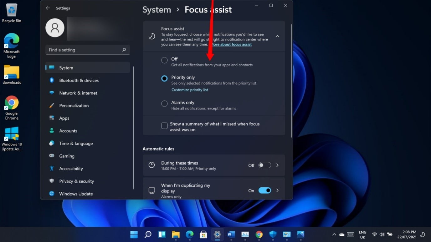 How to use Focus Assist in Windows 11?