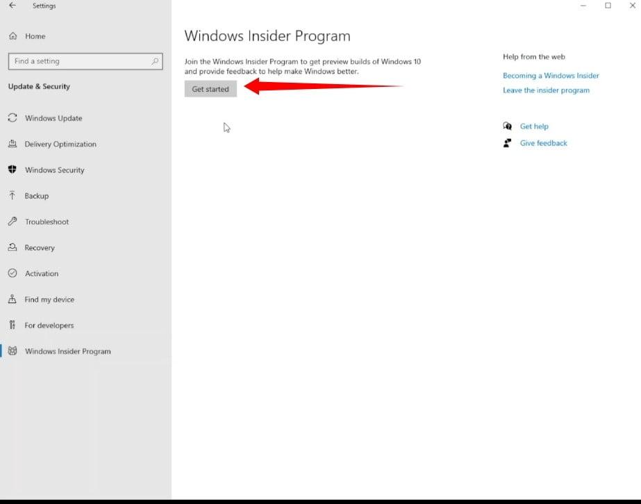 How to start with Windows Insider Program