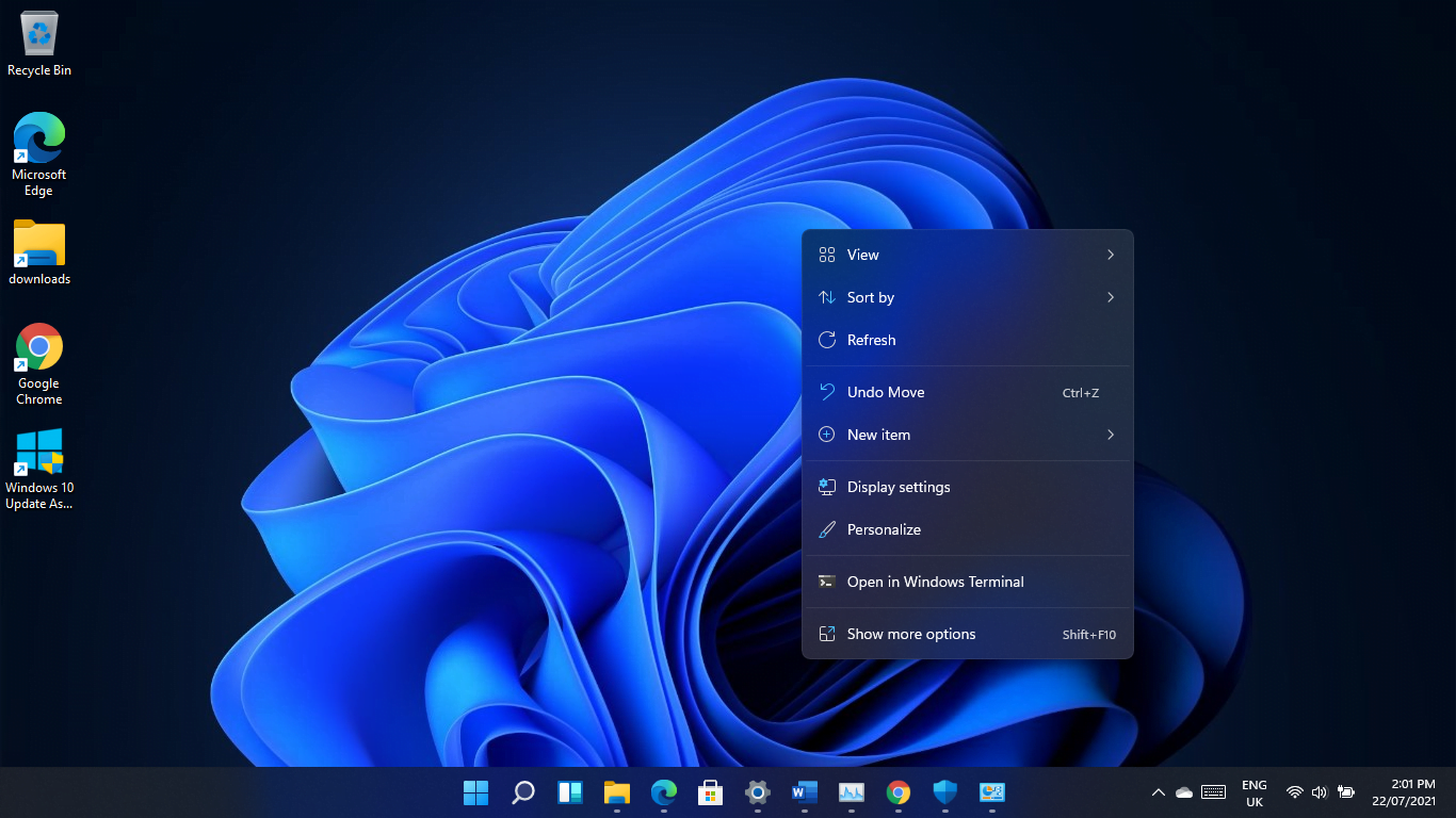 The noticeable UI changes include a new translucent context menu design that Microsoft calls acrylic material