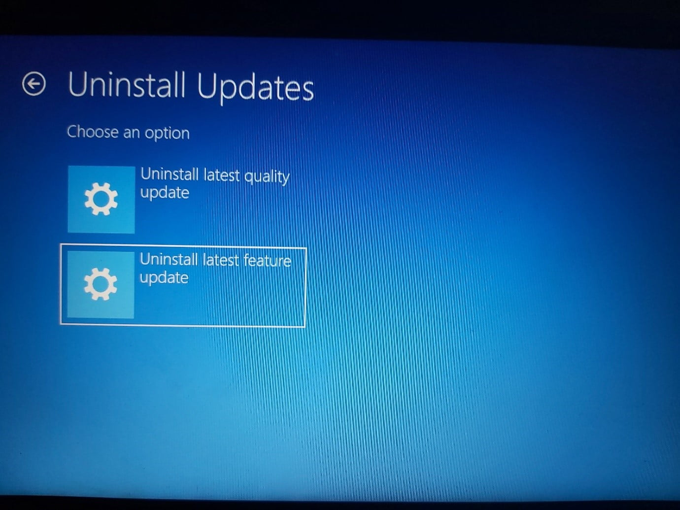 How to uninstall latest feature update on Windows 11?