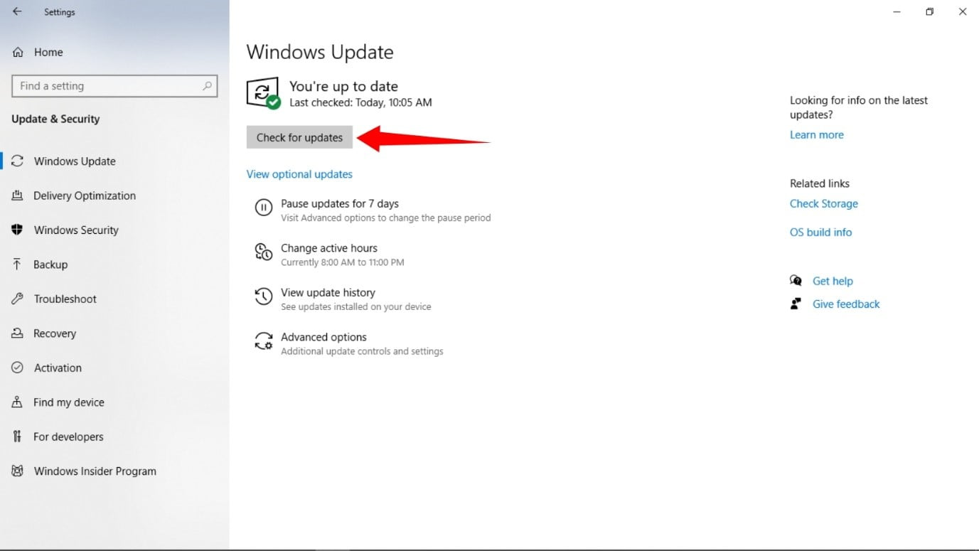 Check for Updates on Windows 11