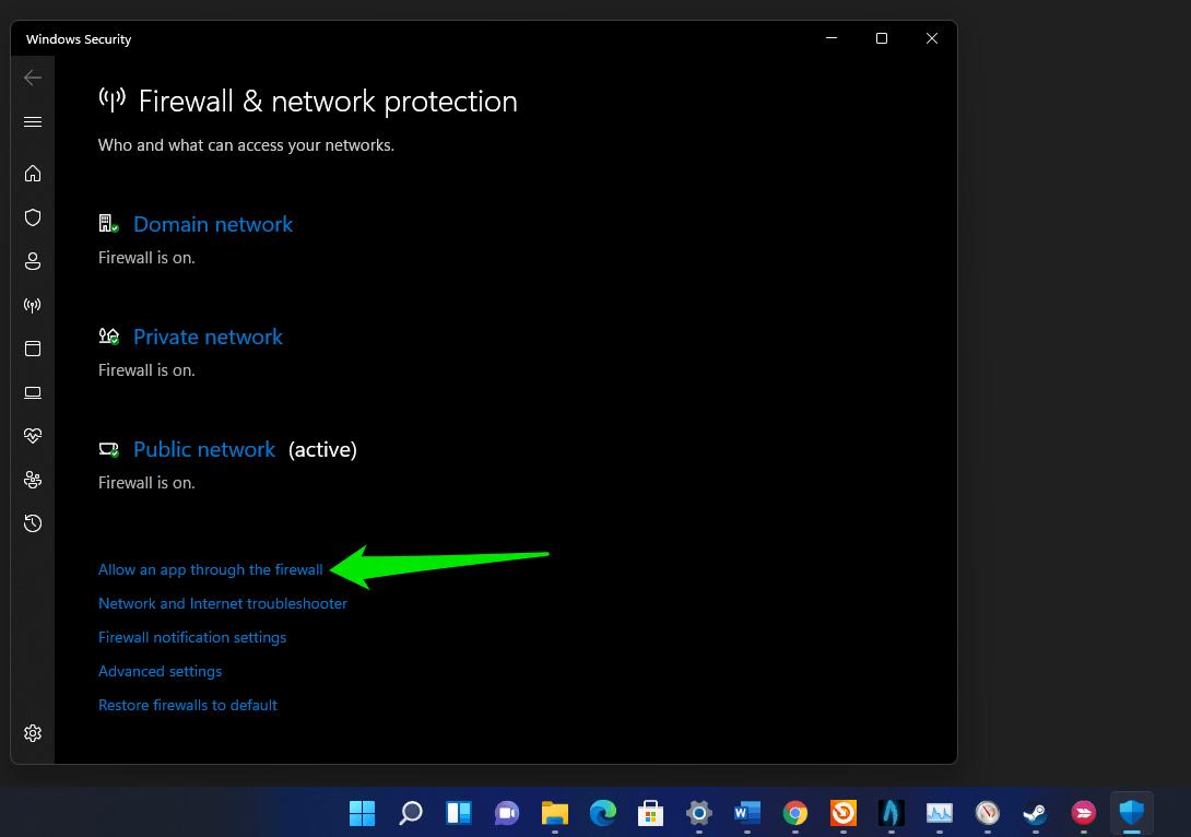 How to allow an app through Windows 11 Firewall