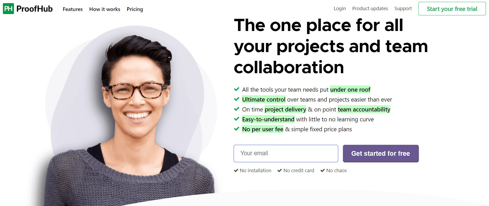 Proofhub features