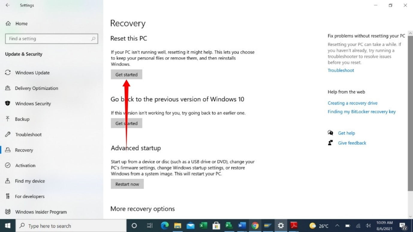How to reset a Windows 10 PC?