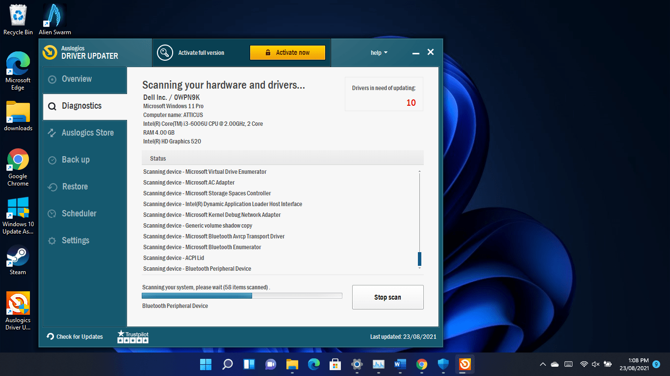 Scan your PC - step 1