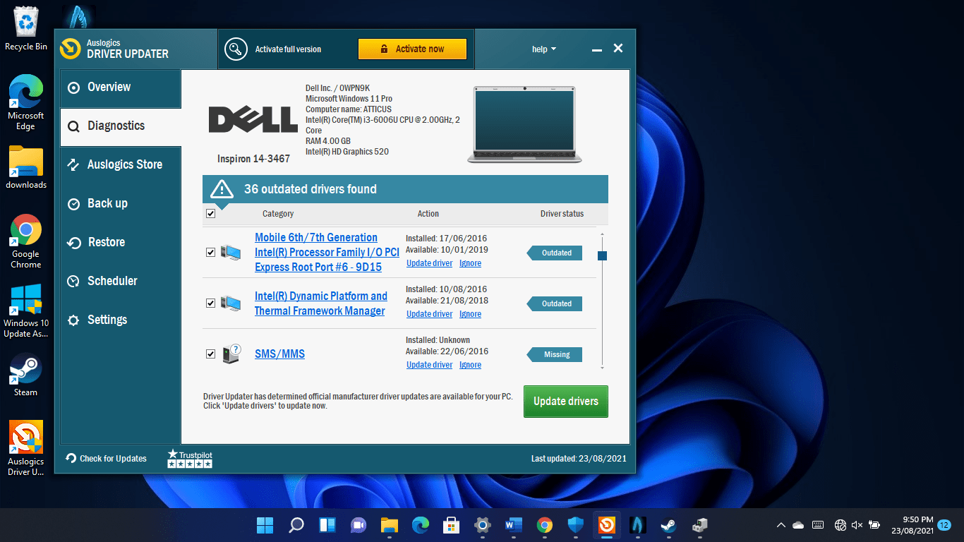 Scan your PC - step 2