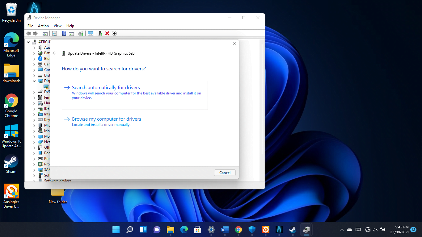 How to search automatically for drivers on Windows 11?
